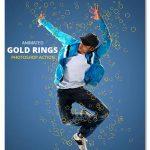 اکشن حرکت حلقه های طلایی Animated Gold rings Photoshop Action