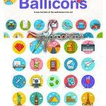 دانلود ۲۵۰ آیکون دایره ای و فلت وکتور Ballicons 3 Icon Set
