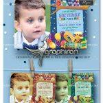 دانلود قالب آماده کارت دعوت جشن تولد کودک PSD لایه باز