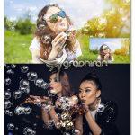 اکشن فتوشاپ ساخت حباب های آب Blowing Bubble Photoshop Action