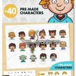 کیت ساخت آواتار کارتونی پسر Cartoon Boy Avatar Creation Kit