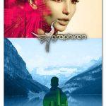 اکشن فتوشاپ ادغام عکس ها Color Double Exposure Photoshop Action