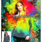 اکشن فتوشاپ نقاشی رنگارنگ Colorful Bright Colors Photoshop Action