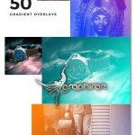اکشن فتوشاپ گرادینت های رنگی متنوع Gradient Photoshop Action