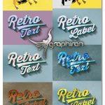 افکت های متن قدیمی و ۳ بعدی برای فتوشاپ Retro Vintage Text Effects