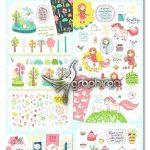 دانلود ۳۵۰ وکتور کودکانه Spring is Here! Graphics & Patterns