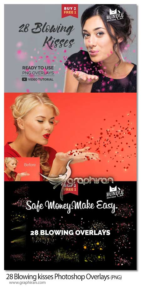 28 Blowing kisses Photoshop Overlays