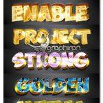 دانلود استایل های فتوشاپ طلایی سه بعدی ۳D Gold Photoshop Vol 3