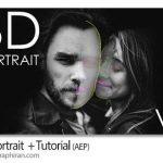 دانلود پروژه افتر افکت تبدیل چهره 2 بعدی به 3 بعدی 3D Portrait V2
