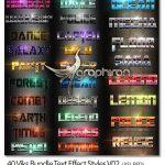 دانلود ۴۰ استایل زیبا متن فتوشاپ Viks Bundle Text Effect Styles V02