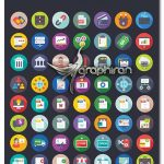 دانلود ۴۷۶ آیکون تجاری و اداری فلت Business and Office Flat Icons