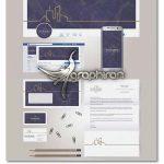 دانلود ست اوراق اداری شرکت معماری و ساختمانی وکتور لایه باز