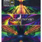 پروژه افتر افکت رقص نور هماهنگ با صدا Audio React Music Visualizer 3D