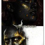 اکشن فتوشاپ افکت سیاه و طلایی Black & Gold Photoshop Action