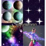 مجموعه اکشن فتوشاپ ساخت افکت کهکشان COSMOS Photoshop Action Set