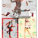 اکشن ساخت پوستر گرافیکی معاصر Contemporary Graphic Poster Action