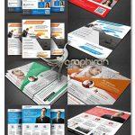 دانلود رایگان ۴ تراکت تبلیغاتی تجاری زیبا و شیک PSD لایه باز