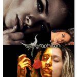 اکشن فتوشاپ افکت پرتره تیره و طلایی Dark Golden Portrait Actions Bundle
