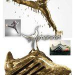 اکشن فتوشاپ افکت چکیدن قطره های طلا Droping Gold Photoshop Action