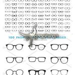 دانلود ۱۰۰ طرح لایه باز عینک Eyeglasses Frames Vector & PSD