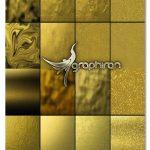 دانلود مجموعه ۳۲ تکسچر طلا با کیفیت بسیار بالا GOLD TEXTURES