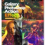 اکشن فتوشاپ افکت کهکشان روی عکس Galaxy Photoshop Action Effect