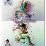 اکشن فتوشاپ ساخت دایره های رنگی در بک گراند I Can Action