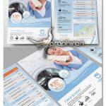 دانلود طرح تراکت و پوستر تبلیغاتی خشکشویی PSD لایه باز