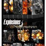 دانلود طرح های جلوه های ویژه انفجار PSD لایه باز Ron's Explosions