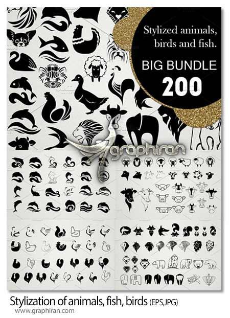 طرح های لوگو و آیکون حیوانات