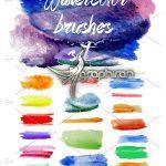 دانلود مجموعه براش آبرنگ برای فتوشاپ Watercolor Brushes Set
