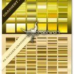 دانلود مجموعه بیش از ۱۳۰ گرادیان فتوشاپ رنگ طلایی Golden Gradients