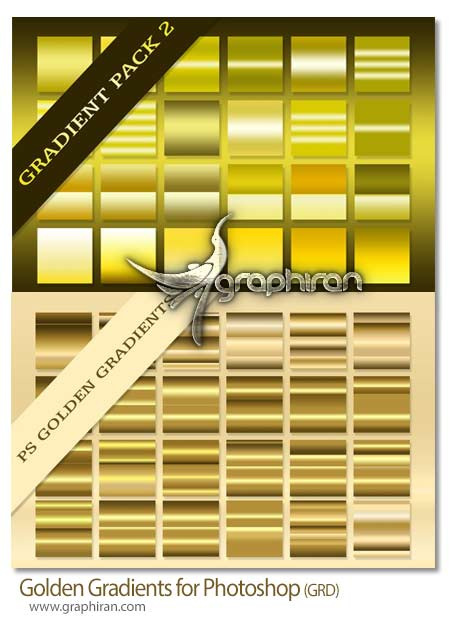 گرادیان رنگ طلایی برای فتوشاپ