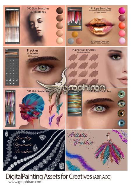 پک ابزارهای فتوشاپ برای نقاشی دیجیتال