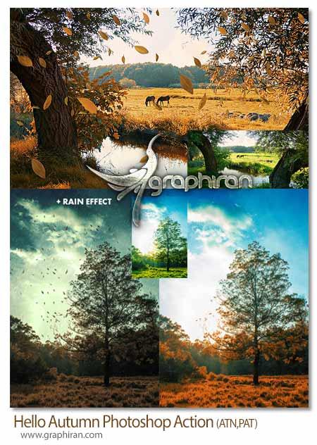 اکشن فتوشاپ افکت فصل پاییز