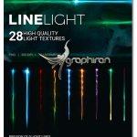 دانلود طرح های PNG خطوط نوری گرافیکی Line Light Effects