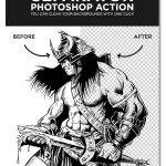 اکشن فتوشاپ حذف بک گراند با یک کلیک Separator 2 Photoshop Action