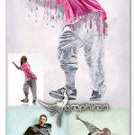 اکشن فتوشاپ نقاشی خیس Wet Paint Photoshop Action