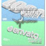 اسکریپت و پروژه افتر افکت لوگو سبک هزار تو Maze Maker Element 3D