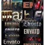 دانلود 10 استایل فتوشاپ متن 3 بعدی حرفه ای 3D Text Styles D_31