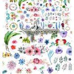 دانلود بیش از ۱۰۰ وکتور گرافیکی گل و گیاه Vector Flowers