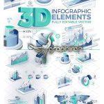 دانلود المان های وکتور اینفوگرافیک ۳ بعدی ۳D Corporate Infographic Elements