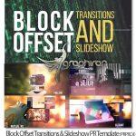 پروژه آماده پریمیر ترانزیشن و اسلایدشو Block Offset Transitions & Slideshow