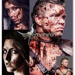 اکشن فتوشاپ ساخت افکت خون آلود شدن بدن Blood Photoshop Action