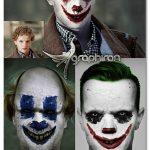 اکشن فتوشاپ تبدیل چهره به دلقک ترسناک Clown Photoshop Action