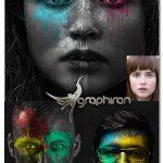 اکشن فتوشاپ ریختن رنگ روی سوژه Color paints Photoshop Action