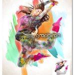 اکشن فتوشاپ افکت نقاشی رنگی Colored Paint Photoshop Action