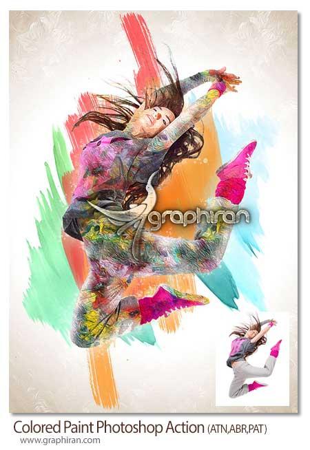 اکشن فتوشاپ افکت نقاشی رنگی