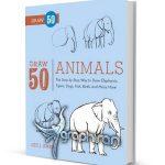 دانلود کتاب آموزش نقاشی 50 نوع حیوان Draw 50 Animals