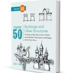 کتاب آموزش نقاشی ۵۰ نوع ساختمان Draw 50 Buildings and Other Structures